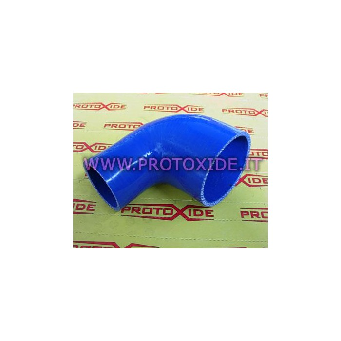 Curve reduced 90 ° silicone 76-51mm Reinforced silicone elbow