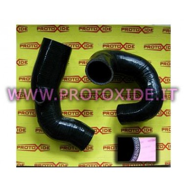 Silicon hoses blacks Lancia Delta 16V Turbo