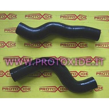 Tubos de agua de silicona negra Lancia Delta 8-16v 2pcs Mangas específicas para automóviles