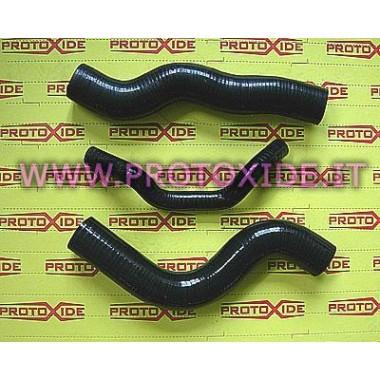 Noirs tuyau d'eau en silicone Lancia Delta 16v 8-3pc Manches spécifiques pour voitures