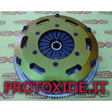 Steel flywheel kit with twin-disc clutch for Renault Clio