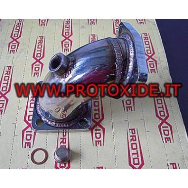 Downpipe scarico acciaio per Lancia Delta 16V maggiorato 70mm