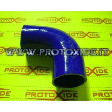 90 ° koleno silikón 63mm Zosilnené silikónové krivky