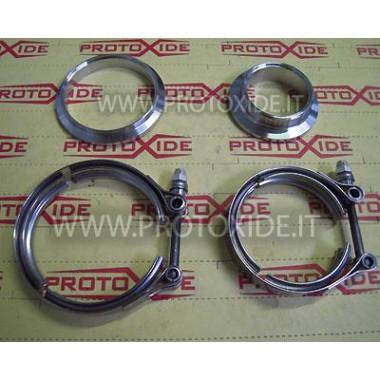 Kit fascette Vband flange per Turbocompressore Garrett Gt28-GT30-GT35 con chiocciola Tial ingresso e uscita collettore scaric...