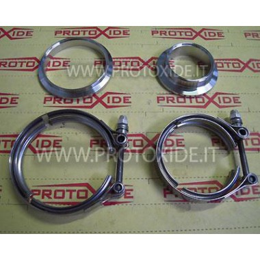 Kit Vband ties with flanges for turbo Tial