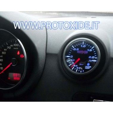 manomètre de pression de turbo installé sur une Audi S3 - type TT 2 Manomètres Turbo, Essence, Huile