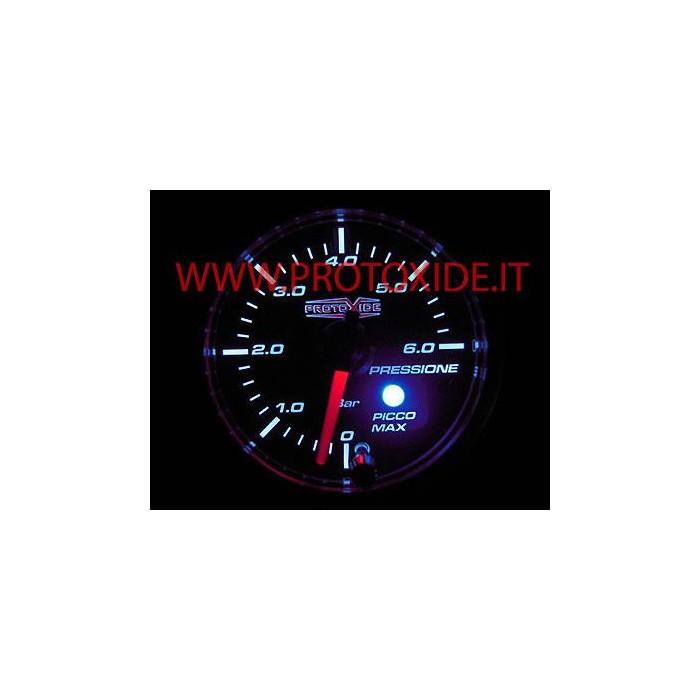 Petrol Oil Pressure Gauge 52mm with peak memory and 0-6 bar Pressure gauges Turbo, Petrol, Oil