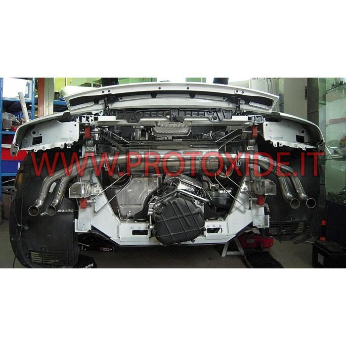 Izplūdes izpūtējs Audi R8 4.2 Izplūdes gāzu noslēpumi un spailes