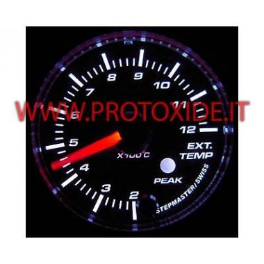 Misuratore Kit Temperatura Gas Scarico con memoria 60mm rotondo Misuratori Temperatura