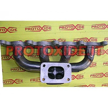 Collettore scarico acciaio Minicooper R53 per trasformazione turbo posizione sotto centrale Collettori in acciaio per motori ...