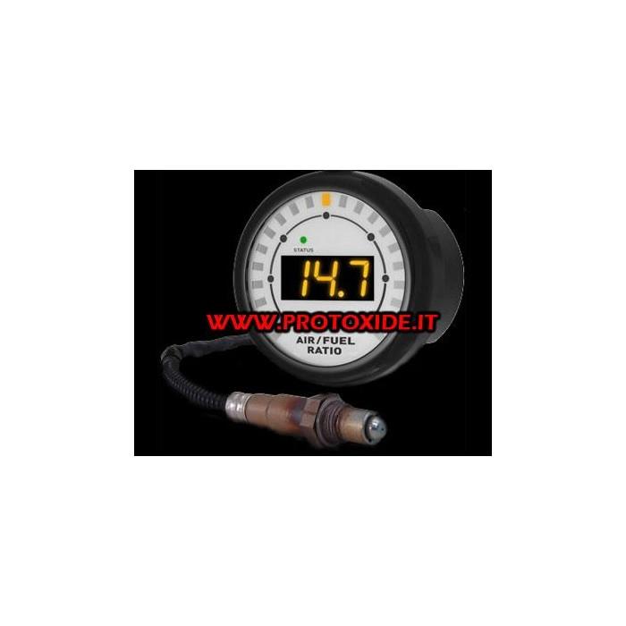 Luftbränsleprecisionsbredbandssond och programvara för att logga