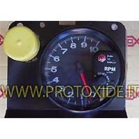 Tacómetro del motor y luces de cambio