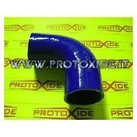 Reinforced silicone elbow
