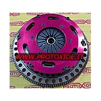 Flywheel kit with reinforced twin-disk clutch