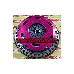Flywheel kit with reinforced twin-disk clutch
