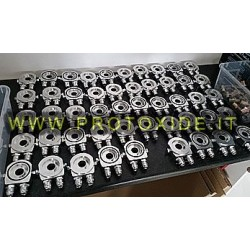 Supports oil filter and oil cooler accessories