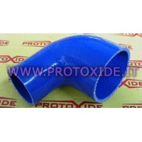 Silicone reduced elbow pipe reinforced